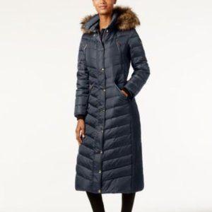 Michael Kors Faux-Fur-Trim Down Maxi Puffer Coat